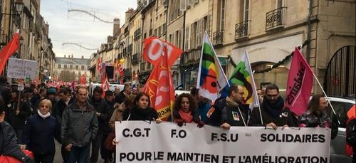 Une nouvelle manifestation à Dijon contre la réforme des retraites