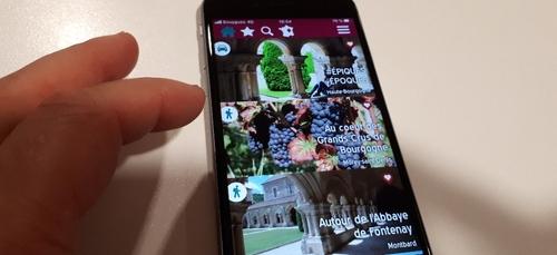 """De nouveaux contenus sur l'appli """"Balades en Bourgogne"""""""