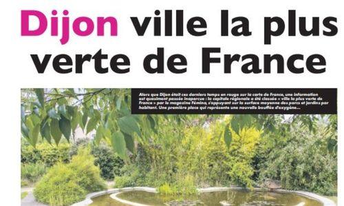 Dijon serait la ville la plus verte de France