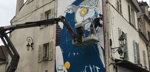 Une nouvelle œuvre se prépare sur le « MUR » de Dijon