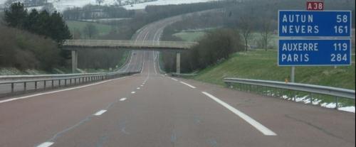 A38 : Fermeture dès ce lundi matin des accès depuis Fontaine...