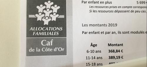 29 504 familles de Côte d'Or bénéficient d'une nouvelle aide de la CAF