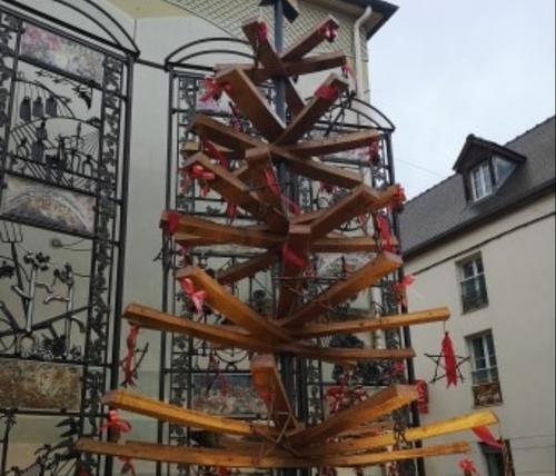 D'étonnants sapins de Noël à Gevrey-Chambertin