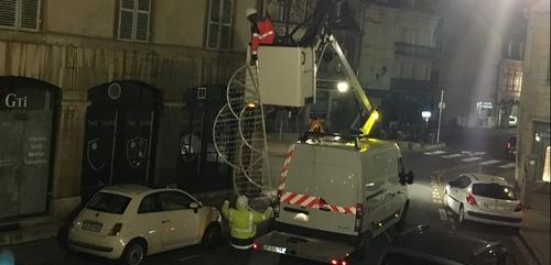 Les décorations de Noël ont été retirées à Dijon
