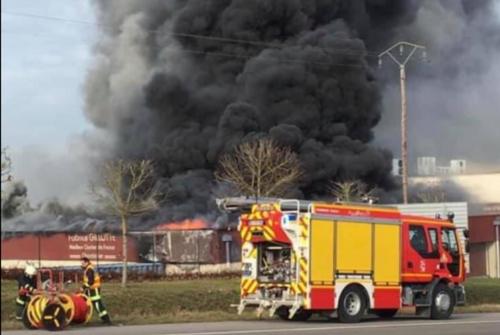 Incendie à l'atelier Fabrice Gillotte à Norges