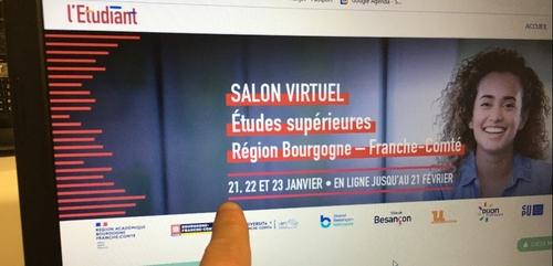 Un salon virtuel des études supérieures en Bourgogne-Franche-Comté