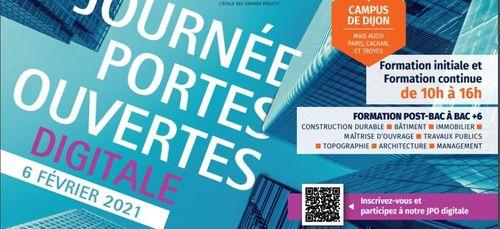 « Des portes ouvertes digitales » annoncées à l'ESTP Dijon
