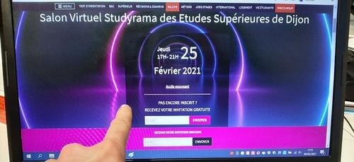 Le salon virtuel Studyrama des Etudes Supérieures de Dijon a lieu...