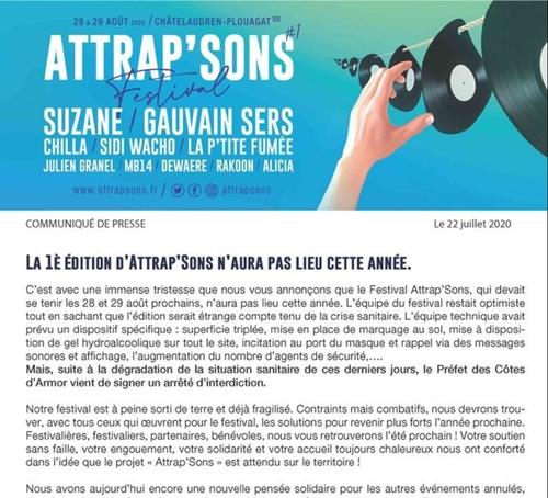 Annulation de l'ATTRAP'SONS