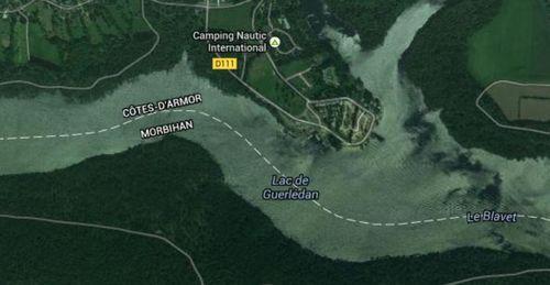 Le Lac de Guerlédan localement pollué