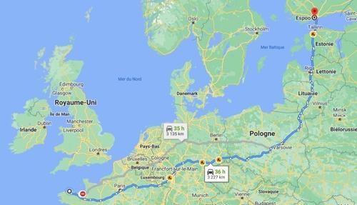 Lannion-Espoo : 3 200 km à vélo