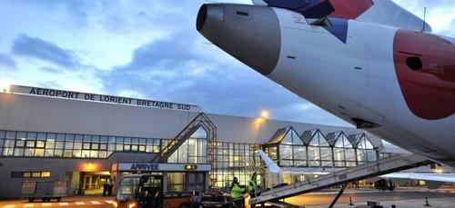 Fermeture partielle de l'aéroport de Lorient.