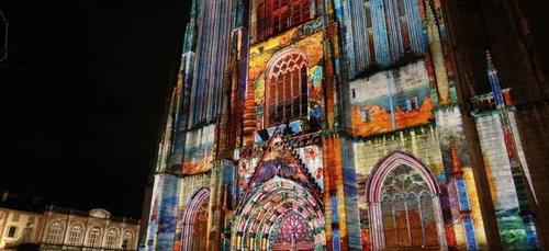 Nouveau son et lumière pour la cathédrale de Quimper.