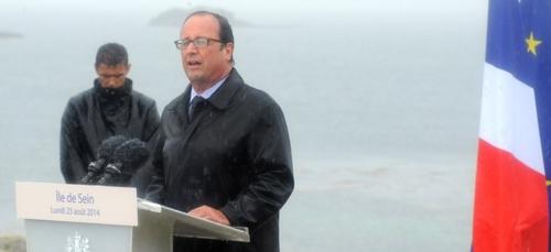 François Hollande en visite à Quimper
