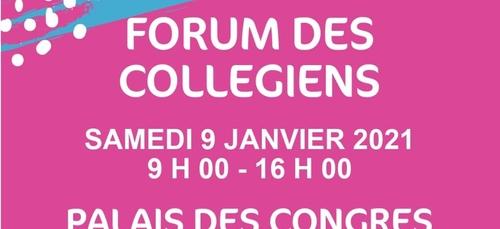 Forum des collégiens à Lorient le samedi 9 janvier 2021.