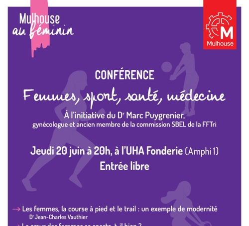 "Mulhouse au Féminin : Conférence ""Femmes, Sport, Santé, Médecine"""
