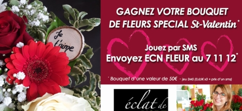 Gagnez votre bouquet de fleurs pour la St-Valentin