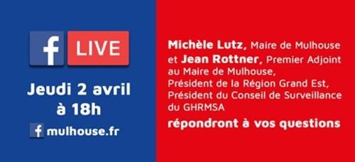 Covid-19 à Mulhouse : Facebook Live jeudi à 18h en présence de...