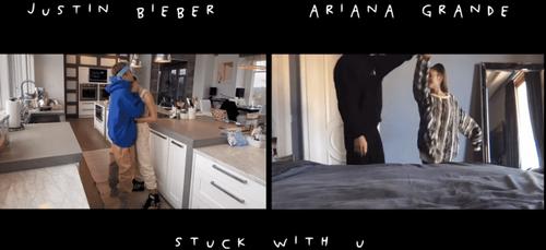 Stuck With U :  Ariana Grande et Justin Bieber dévoilent le clip...