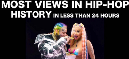 6ix9ine et Nicki Minaj battent un record sur YouTube