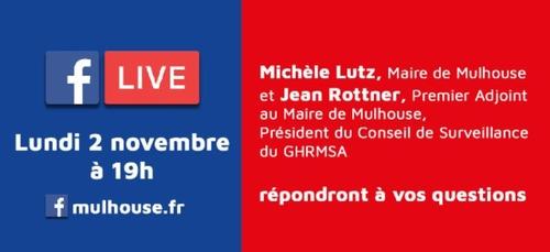 Confinement à Mulhouse /  Facebook Live lundi 2/11 à 19h en...