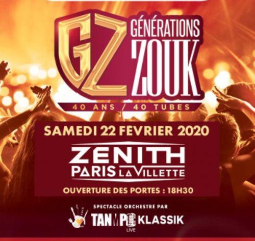 GENERATIONS ZOUK - 40 ANS 40 TUBES