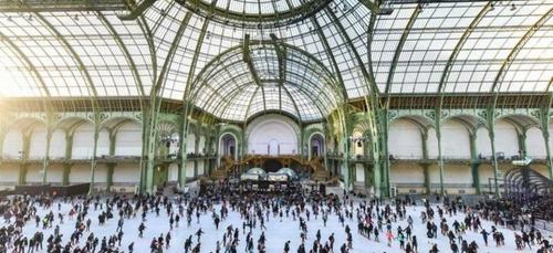 La patinoire du Grand Palais de Paris fait son grand retour