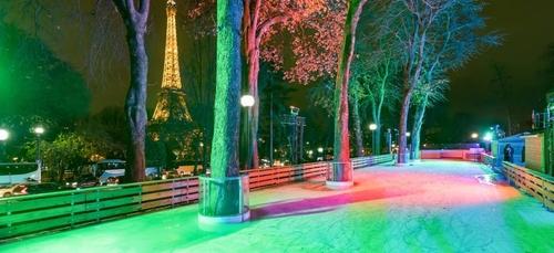 Une patinoire éphémère dans les Jardins du Trocadéro