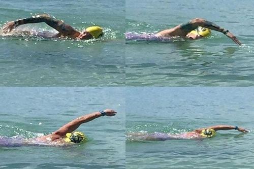 L'américaine Katie Blair tente un aller/retour entre Sainte-Lucie...