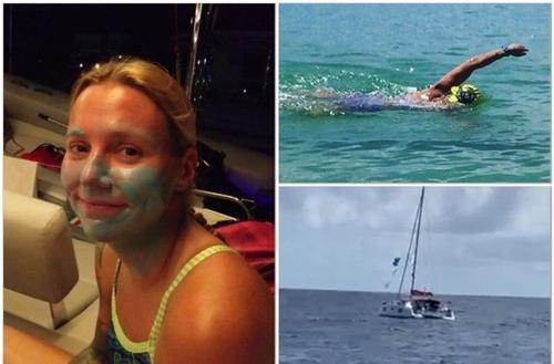 L'américaine Katie Blair a déjà effectué la moitié de son défi à la...