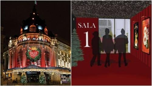 Un cinéma éphémère gratuit s'installe au BHV Marais pour Noël