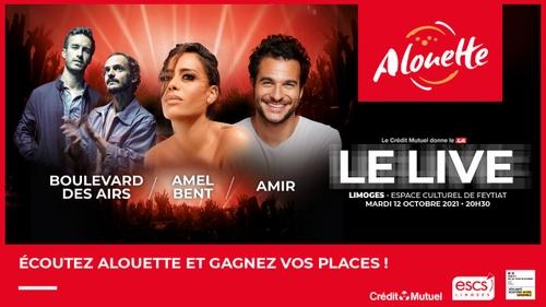 Le Live Alouette : Amir, Boulevard des Airs et Amel Bent à Limoges !
