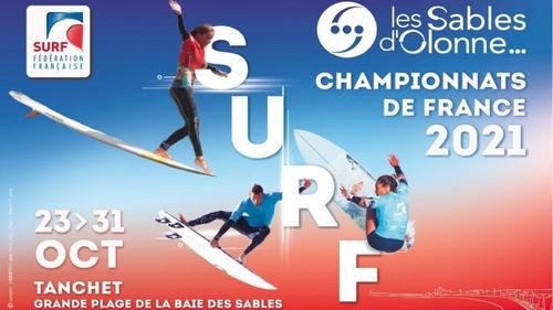 Les championnats de France de surf aux Sables d'Olonne