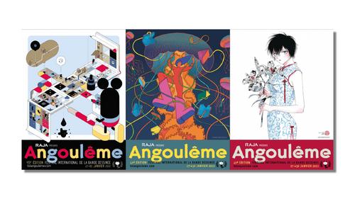 Le Festival de la BD d'Angoulême dévoile ses affiches de l'édition...