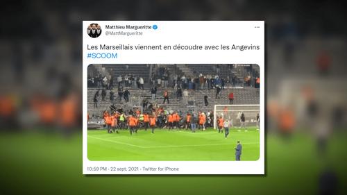 Incidents entre supporters après le match Angers-Marseille