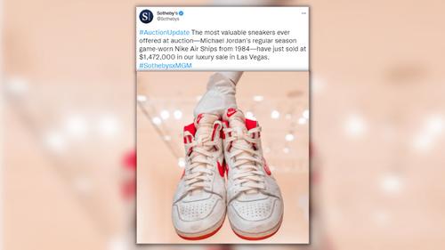 Des baskets portées par Michael Jordan vendues près de 1,5 million...