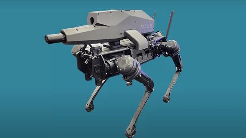"""""""Spur"""" : le premier chien-robot armé"""