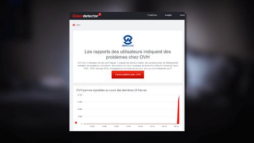 Panne chez OVH : des milliers de sites inaccessibles