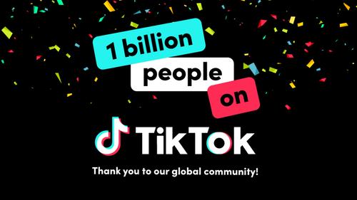 TikTok passe le cap du milliard d'utilisateurs actifs chaque mois