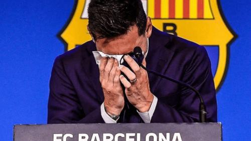 Le mouchoir de Messi couterait 1 million de dollars.