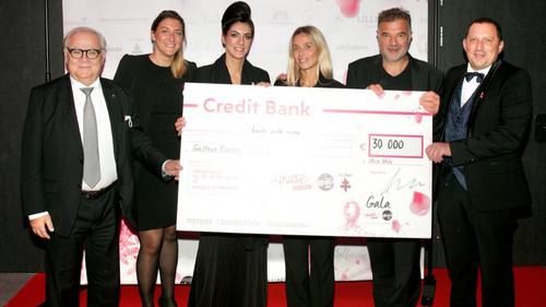 Pari gagné avec un chèque de 30 000 euros remis à la fondation...