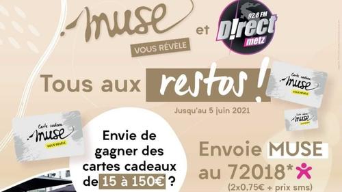 """D!RECT FM ET MUSE LANCE L'OPÉRATION """"TOUS AUX RESTOS"""""""