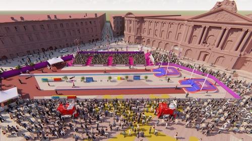 Athlétisme. Un concours XXL de saut à la perche place du Capitole