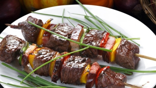 Brochettes de bœuf à la plancha ou au barbecue