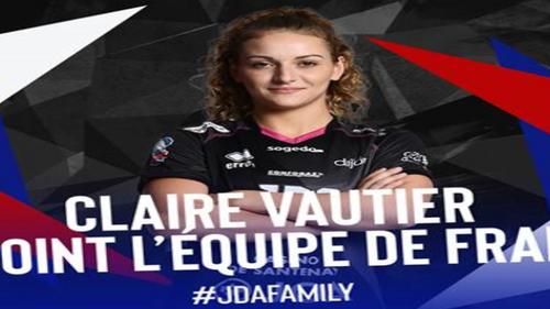 Hand féminin : Claire Vautier de nouveau appelée en équipe de France