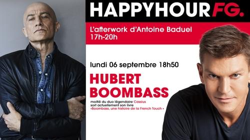 Hubert 'Boombass', moitié des Cassius et invité ce soir de l'Happy Hour FG.