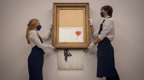Banksy : sa toile auto-détruite remise aux enchères aujourd'hui