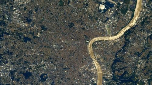 L'astronaute Thomas Pesquet offre des clichés de Bordeaux
