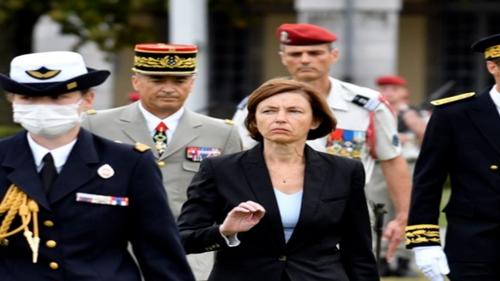 La ministre des Armées Florence Parly en visite à Châteauroux ce...