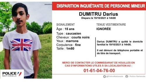 Yvelines : la police lance un appel à témoin pour retrouver Darius,...